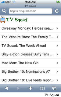 tv squad iphone