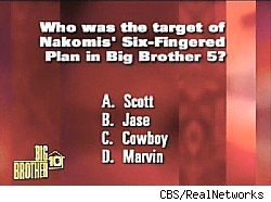 Big Brother trivia on the live feeds