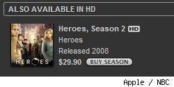 Heroes in HD on iTunes