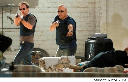 Walton Goggins and Michael Chiklis