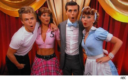 Derek Hough, Brooke Burke, Cody Linley, Julianne Hough - Dancing With The Stars