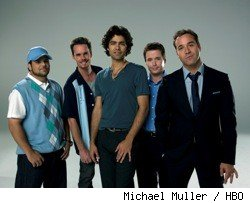 (L-R): Jerry Ferrara, Kevin Dillon, Adrian Grenier, Kevin Connolly, and Jeremy Piven.