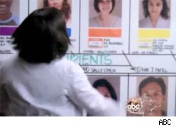 Dr. Bailey (Chandra Wilson) looks at all the patients involved in the domino procedure.