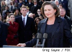 President Elect Allison Taylor (Cherry Jones) is sworn in as President of the United States in the special two-hour prequel event '24: REDEMPTION.'