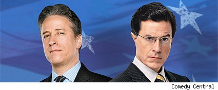Stewart and Colbert