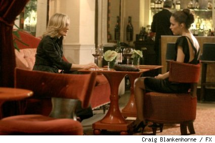 Glenn Close (L) and Rose Byrne (R) star in 'Damages' on FX.