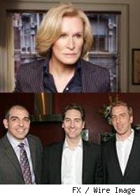Above: Glenn Close, Below (L-R): Glenn Kessler, Daniel Zelman, Todd A. Kessler