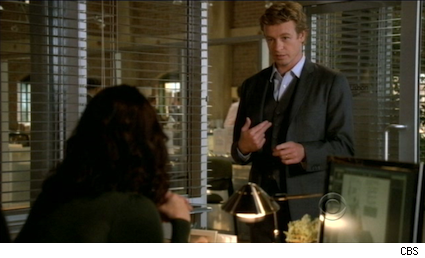 Simon Baker and Patrick Jane in The Mentalist