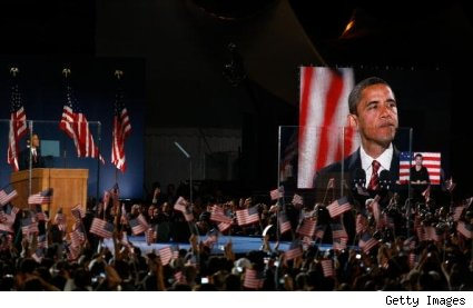 Obama makes acceptance speech on Election Night