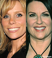 Cheryl Hines and Megan Mullally
