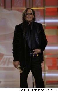 Mickey Rourke at the Golden Globes