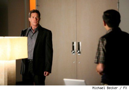 (L-R): Dylan Walsh as Dr. Sean McNamara and Adhir Kalyan as Dr. Raj Paresh.