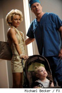 (L-R): Kelly Carlson as Kimber Henry and Julian McMahon as Dr.Christian Troy.