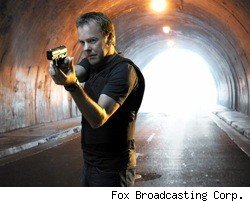 Jack Bauer, played by Kiefer Sutherland, on Fox's 24