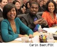 Special guest voices Taraji P. Henson , Kanye West and cast member Sanaa Lathan at the THE CLEVELAND SHOW table read Thursday, March 12 in Los Angeles CA.