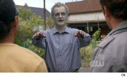 Andrew Airlie as Sam's zombie dad in Reaper