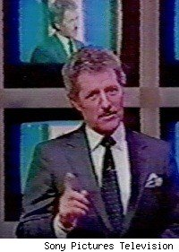 Alex Trebek hosting Jeopardy