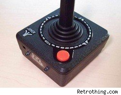 a classic Atari joystick