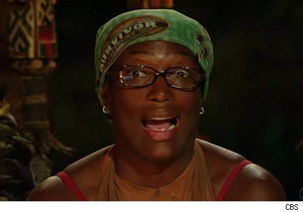 Taj looks surprised on Survivor: Tocantins