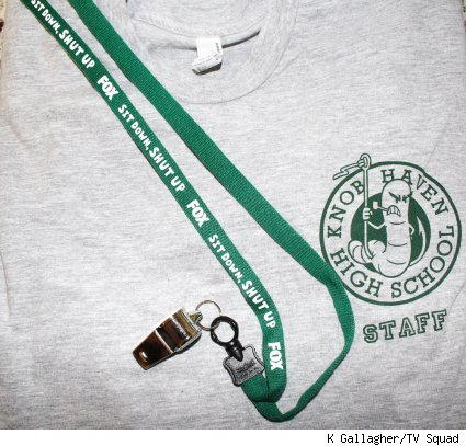 knob haven high staff shirt and whistle