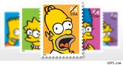 The new Simpsons stamps