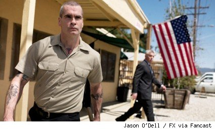 Henry Rollins and Adam Arkin in a scene from Sons of Anarchy.