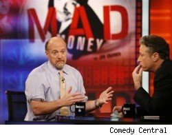 Jim Cramer and Jon Stewart on The Daily Show