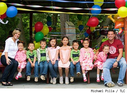 Jon and Kate plus eight celebrate.