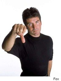 Simon thumbs down