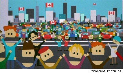 The nation of Canada, as viewed through South Park