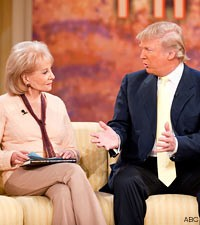 donald trump, barbara walters