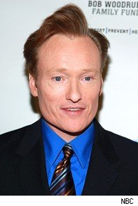 conan o'brien's trademark hairdo is en route to 11:30 on the tonight show.