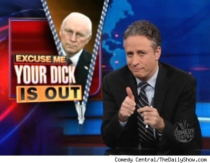 Jon Stewart poking fun of Dick