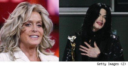 Farrah Fawcett and Michael Jackson... both of whom died today