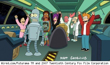 The cast of Futurama