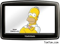 Homer Simpson on your TomTom