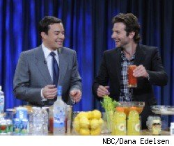 Jimmy Fallon and Bradley Cooper on Late Night