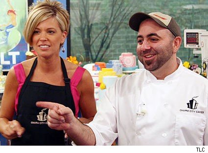 Kate Gosselin with Chef Duff.