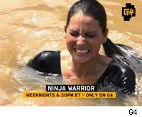 Olivia Munn wipes out on Ninja Warrior