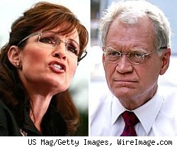 Sarah Palin and David Letterman