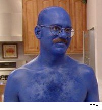 That's what all married men look like. Get it, because he's blue? Shut