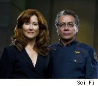 Battlestar Galactica's Mary McDonnell and Edward James Olmos