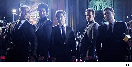 (L-R): Jeremy Piven, Adrian Grenier, Kevin Connolly, Kevin Dillon, and Jerry Ferrara.