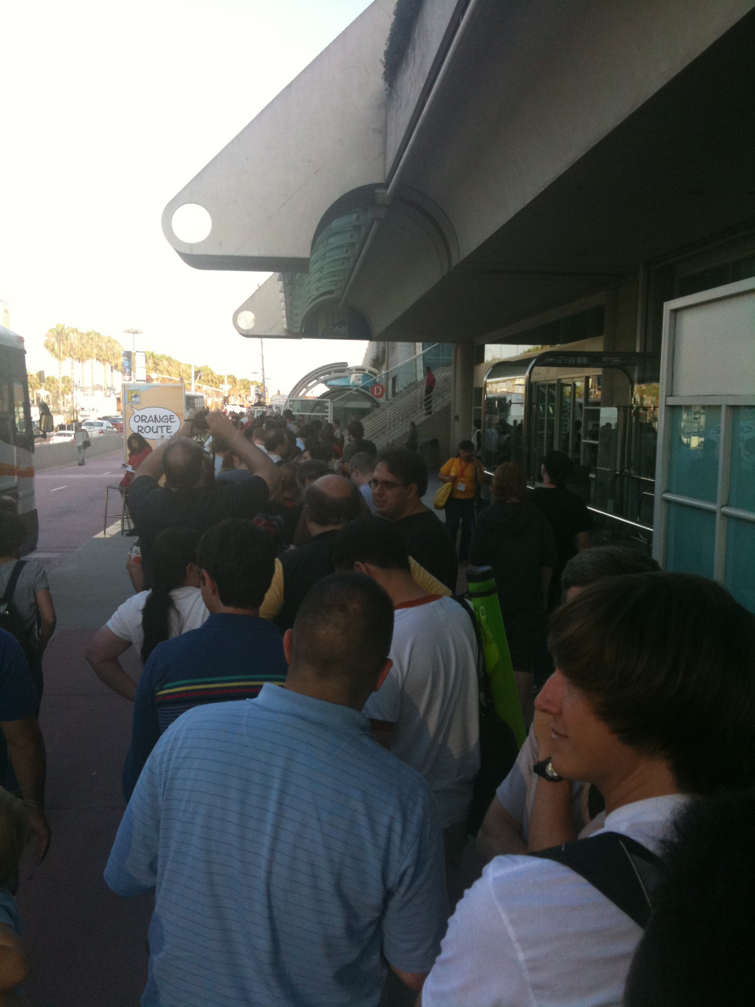 It's a fine line between a mob and a line at Comic-Con.