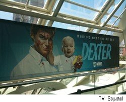 A new ad campgin treats Dexter's new baby like a killer in training.