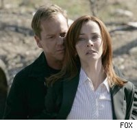 Kiefer Sutherland and Annie Werschling