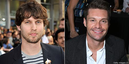 Jon Heder and Ryan Seacrest