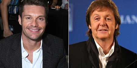 Ryan Seacrest and Paul McCartney