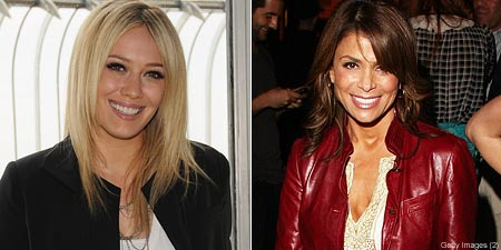 Hilary Duff and Paula Abdul