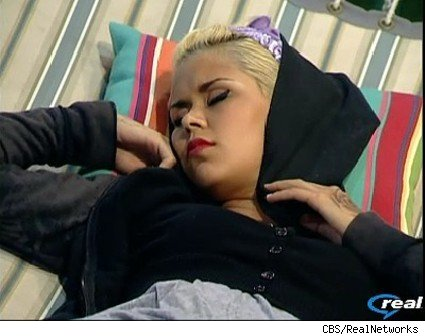 Lydia takes a nap at the Big Brother 11 house